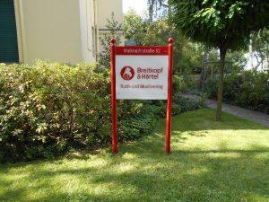 Firmenwerbung mit Logo