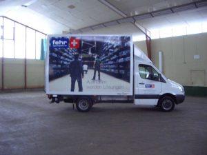 Fahrzeugbeschriftung mit Digitaldrucken