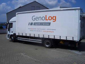 Fahrzeugbeschriftung für LKW mit Folien