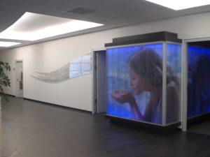 Leuchtkasten aus Glas mit Digitaldruck